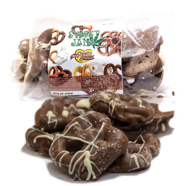 Cannabis Chocolate Pretzels