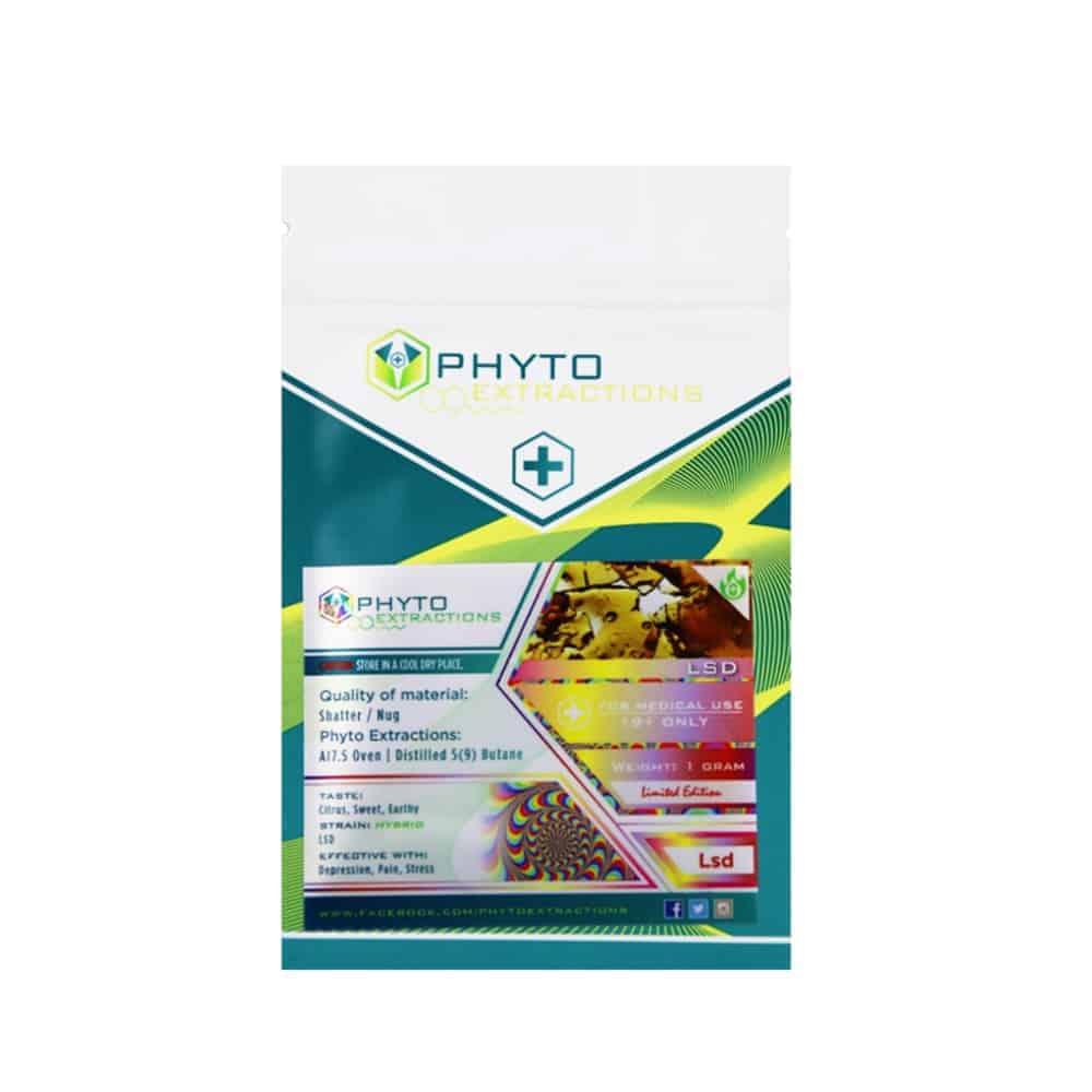 """""""phyto shatter LSD strain in a plastic bag"""""""