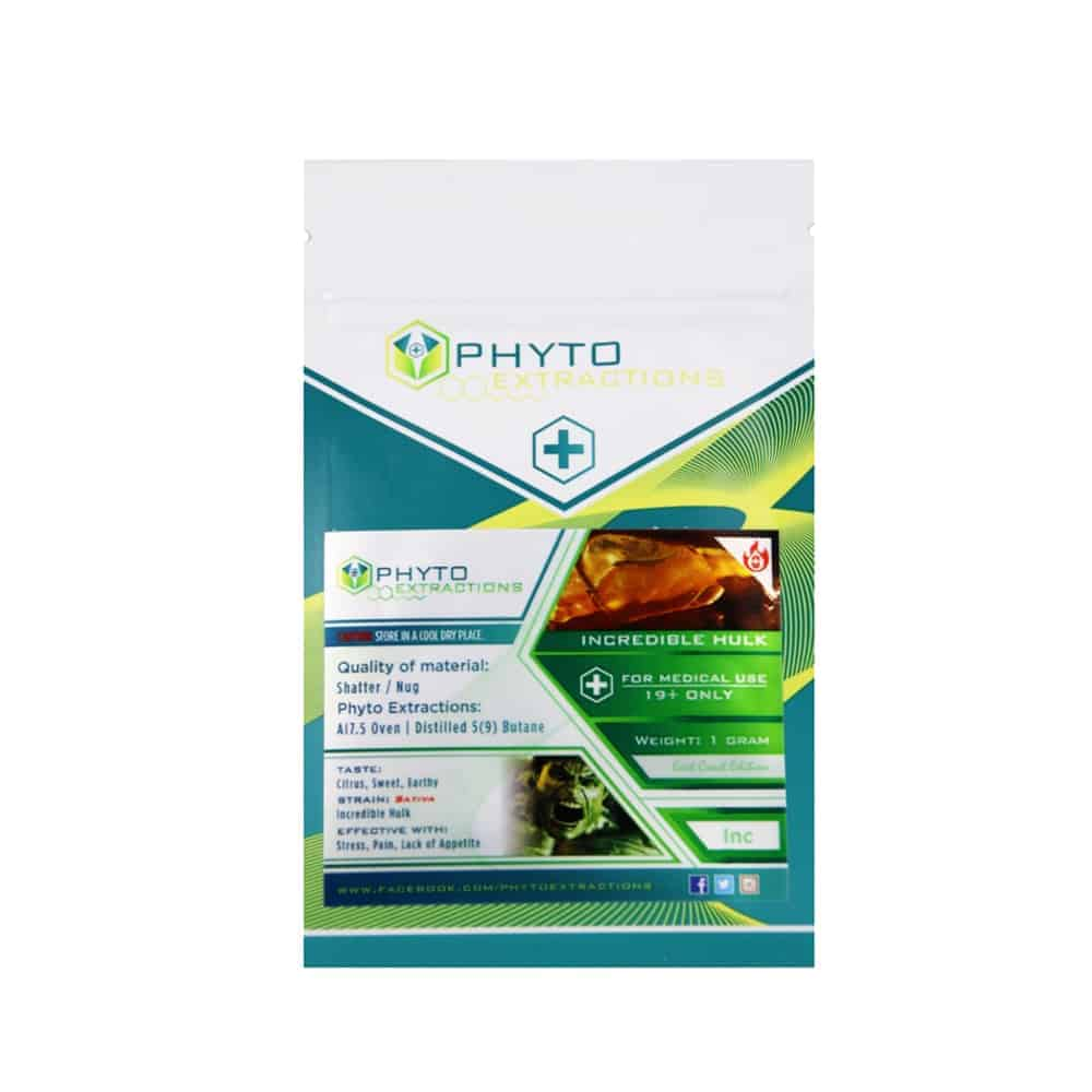 """Phyto shatter incredible hulk strain"""