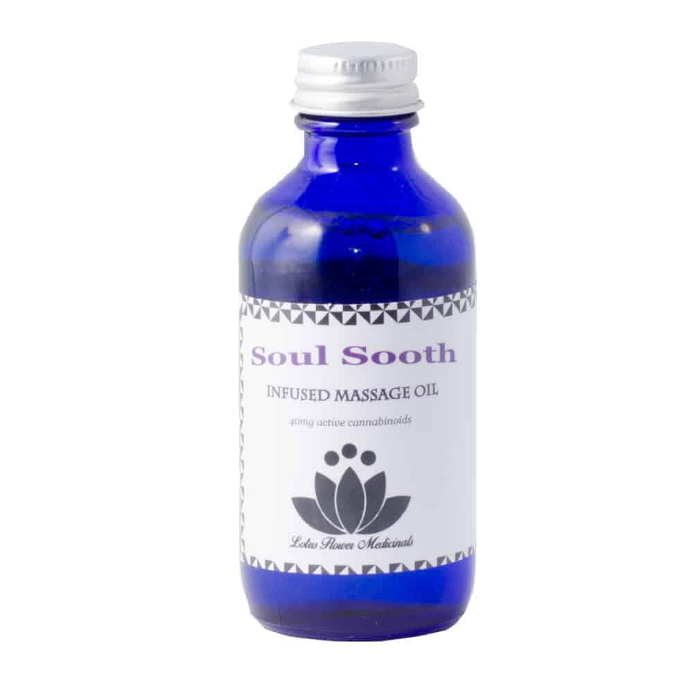 Lotus Flower Medicinals Soul Sooth Massage Oil 60ml Goldbuds