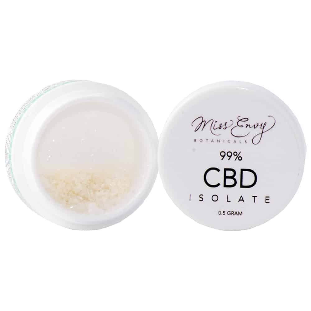 """""""A container holding CBD isolate"""""""