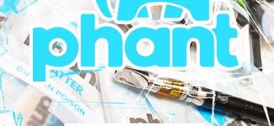 """""""A promotional image showing the highquality shatter concentrates Phant makes"""""""