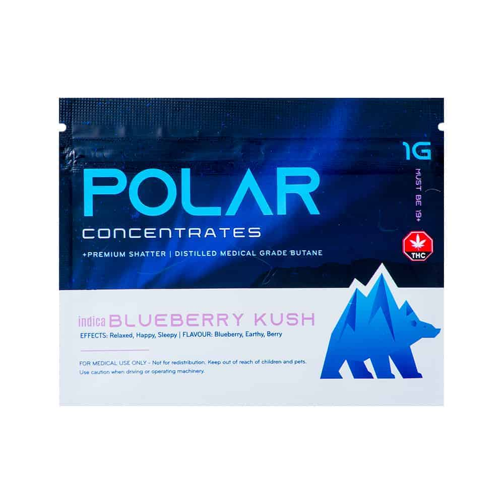 Polar Concentrates - Blueberry Kush - Indica Shatter