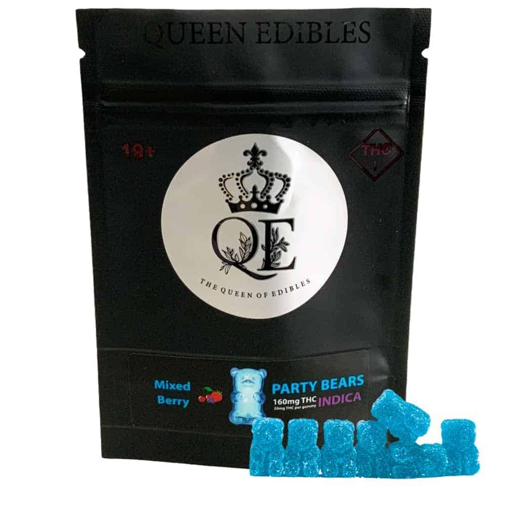 Queen Edibles Party Bears Mixed Berry Sativa 160mg Thc