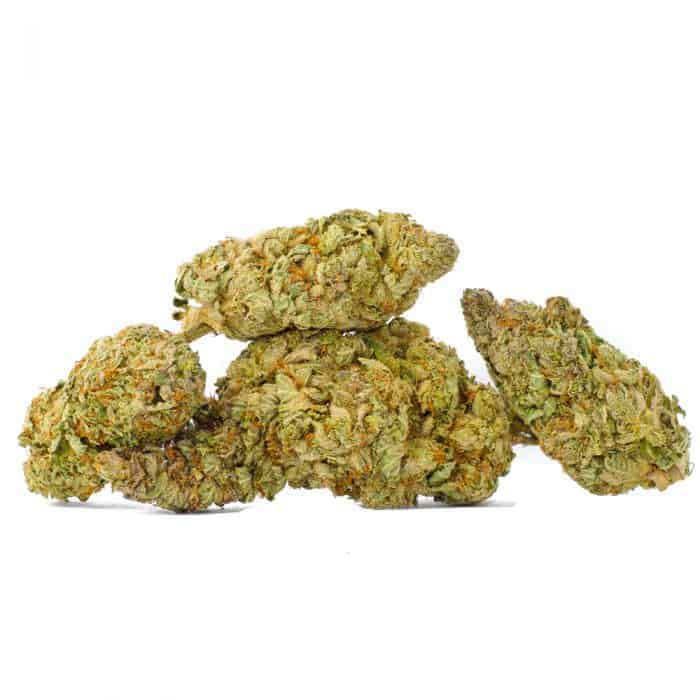 several death bubba nugs piled upon each other for a picture on a crisp white background