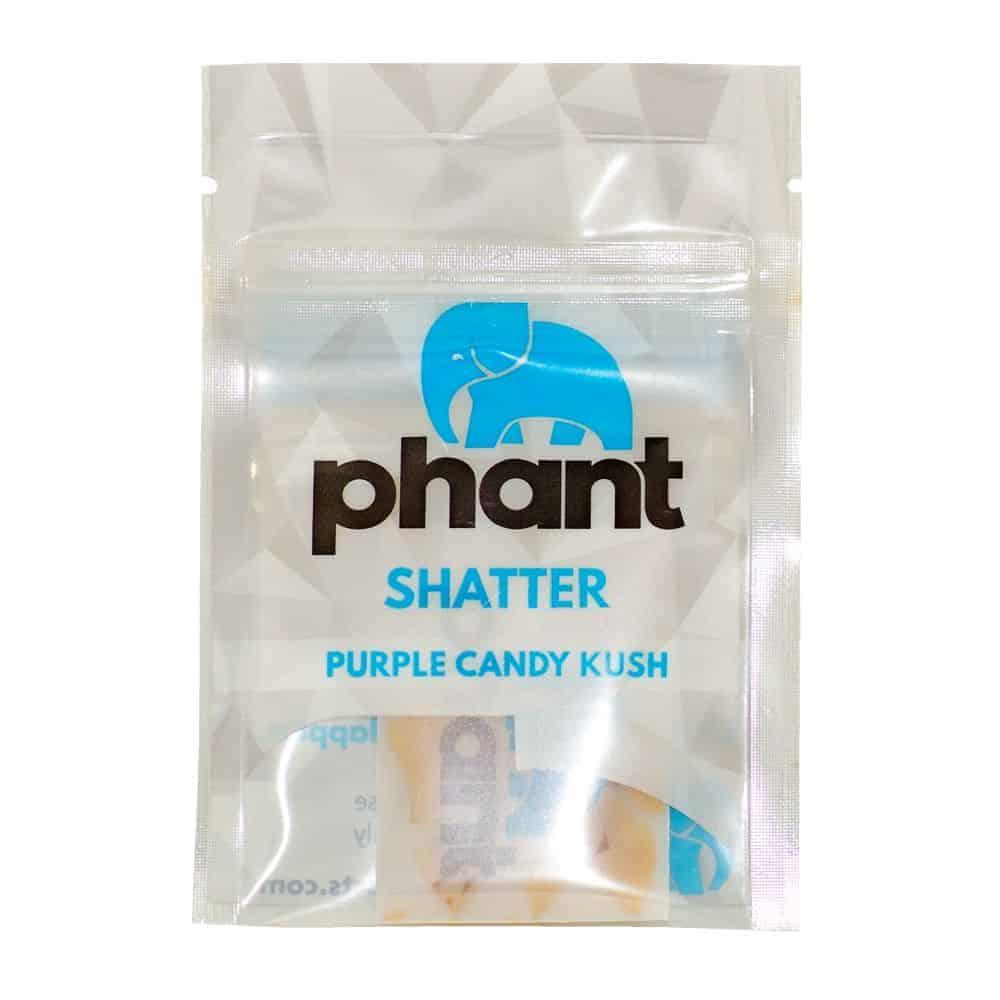 """1 gram bag of Phant Shatter purple candy kush strain"""