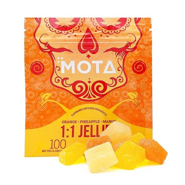 Mota 1:1 Jellies in Orange, Pineapple and Mango