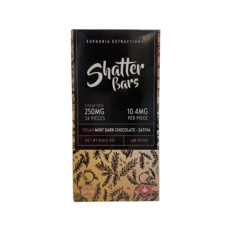 Euphoria Extractions Shatter Bars Vegan Mint Dark Chocolate Sativa
