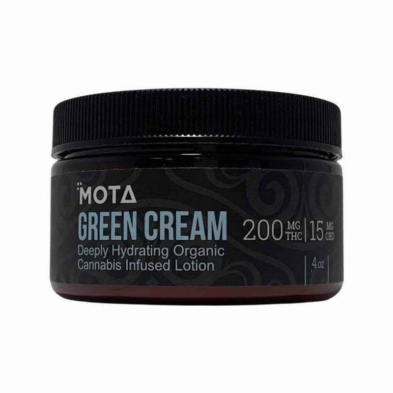 Mota Green Cream Deeply Hydrating Organic Cannabis Infused Lotion
